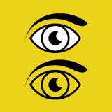 Oeil avec le vecteur eps10 de sourcil Ensemble d'ic?ne d'oeil illustration de vecteur