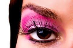 Oeil avec un maquillage Photos libres de droits