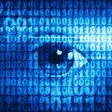 Oeil binaire Image libre de droits