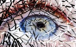 Oeil cassé Photo libre de droits