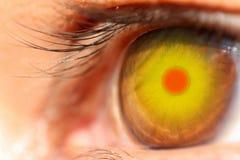 Oeil, comme un soleil. Image stock