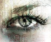 Oeil cybernétique. Images libres de droits
