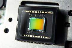 Oeil d'appareil photo numérique de Megapixel de sonde du CCD CMOS Photo stock