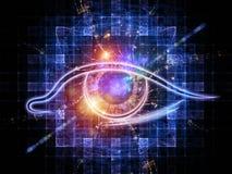 Oeil d'intelligence artificielle illustration de vecteur