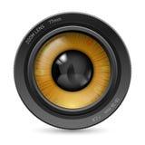 Oeil d'objectif de caméra Photos libres de droits