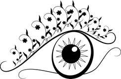 Oeil d'ornements floraux Photos libres de droits