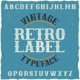 Oeil d'un caractère en label de vintage Photos libres de droits