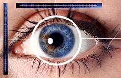 Oeil de cyber de balayage pour la garantie Image libre de droits