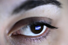 Oeil de Facebook Photo libre de droits