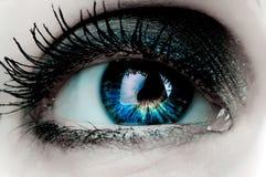 Oeil de femme Photographie stock libre de droits