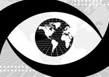 Oeil de globe du monde illustration libre de droits