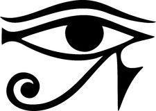 Oeil de Horus - oeil inverse de Thoth illustration stock