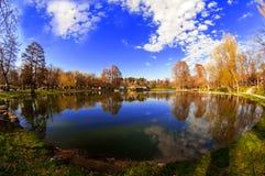 Oeil de lac Photographie stock