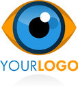 Oeil de logo Photos stock