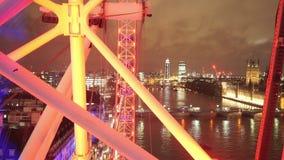 Oeil de Londres par nuit pour l'usage éditorial seulement clips vidéos
