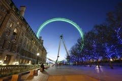 Oeil de Londres, roue de millénium Photos stock