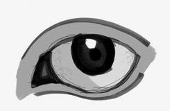 OEIL DESSINÉ illustration de vecteur