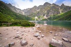Oeil du lac sea en montagnes de Tatra Photographie stock libre de droits