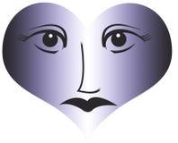 Oeil et fond d'amour Images stock