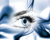 Oeil et lignes Image libre de droits