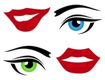 Oeil et une languette illustration libre de droits