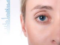 Oeil femelle Photos libres de droits