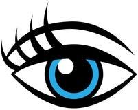 Oeil femelle humain illustration de vecteur