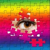 Oeil de puzzle Images libres de droits
