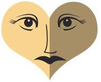 Oeil - fond d'amour Images stock