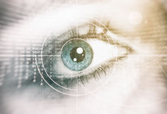 Oeil humain Concept de garantie Photo stock