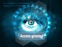 Oeil humain futuriste illustration libre de droits