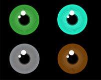 Oeil humain Iris Patterns illustration libre de droits