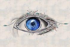 Oeil mécanique Photos libres de droits