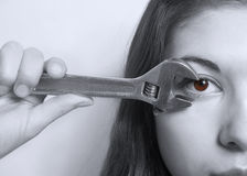 Oeil malade. Photo stock