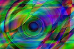Oeil prismatique Photo stock