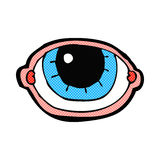 oeil regardant fixement de bande dessinée comique Photos libres de droits