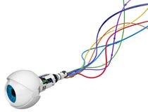 Oeil robotique, couleur de câble Photo libre de droits