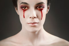 Oeil rouge photographie stock libre de droits