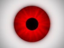 Oeil rouge Image stock
