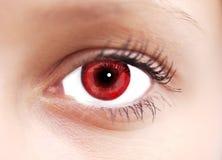 Oeil rouge Images libres de droits
