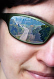Oeil sur la route Photo stock
