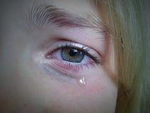 Oeil triste Photos libres de droits