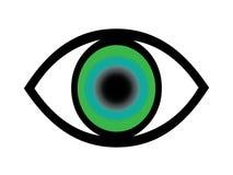 Oeil vert illustration libre de droits