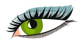 Oeil vert femelle illustration libre de droits