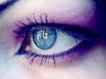 Oeil violet Image libre de droits