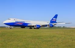 Oeing 748 de silkway Image libre de droits