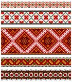 Oekraïens borduurwerkornament Stock Afbeeldingen