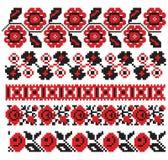 Oekraïens borduurwerkpatroon Stock Afbeeldingen