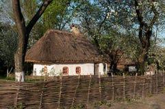 Oekraïens dorp in de lente Royalty-vrije Stock Foto