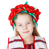 Oekraïens meisje in nationaal kostuum Stock Foto's